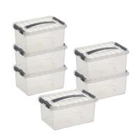 Aufbewahrungsboxen-Set Sunware Q-line, 6 Stück á 6 l