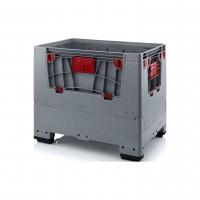 Palettenbox AUER Big Box, L 1200 x B 800, 4 Füße