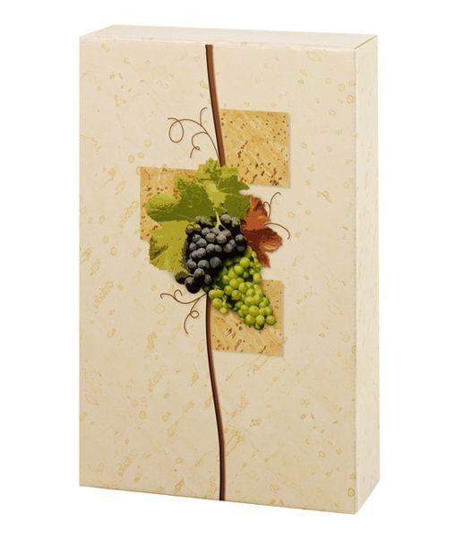 Weinpräsentkarton mdf Rebe, 3 Flaschen