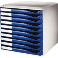 Schubladenbox Leitz 5281, DIN A4, 10 Schubladen
