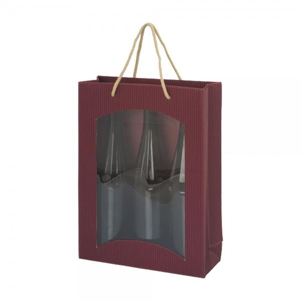 Weintragetasche mdf Offene Welle, Fenster - 3er