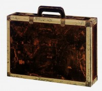 PTZ-Weinpräsentkarton mdf Koffer mit Griff, 3er