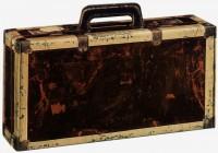 PTZ-Weinpräsentkarton mdf Koffer mit Griff, 2er