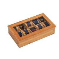 Bambus-Teebox Scorpio, 10 Fächer