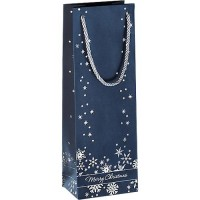 Geschenktasche Sigel Silver Snowflakes, 3 Stück