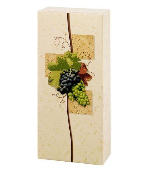 Weinpräsentkarton mdf Rebe, 2 Flaschen