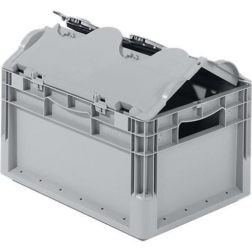 euroboxen mit scharnierdeckel f r lager und werkstatt boxbar. Black Bedroom Furniture Sets. Home Design Ideas
