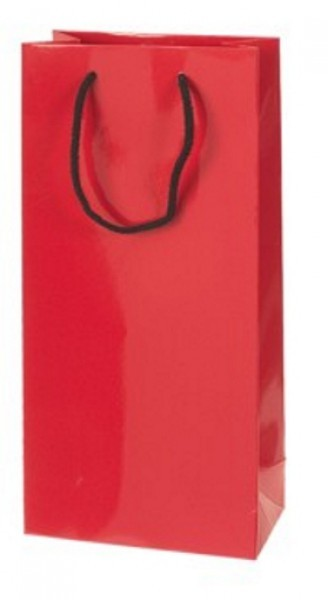 Weintragetasche mdf, aus Lackpapier - 2er