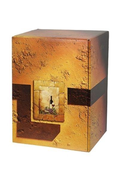 PTZ-Weinpräsentkarton mdf mit Reliefprägung, 6er