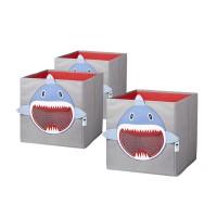 Spielzeugkisten-Set STORE IT! Haifisch, 3 Stück