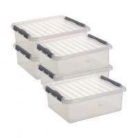 Aufbewahrungsbox Sunware Q-line, 1 l - 5 Stück