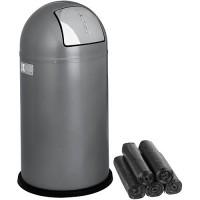 Abfallbehälter WESCO Pushboy, 50 l - inkl. 15 Abfallsäcken