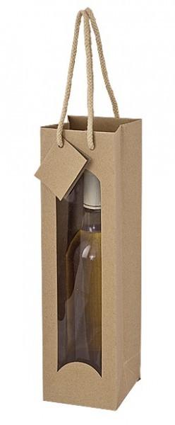 Weintragetasche mdf, aus Kraftpapier - 1er