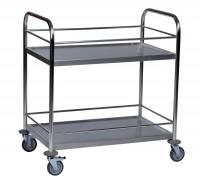 Tischwagen ROLLCART, mit Berandung - 2 Etagen