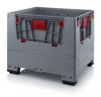 Palettenbox AUER Big Box, L 1200 x B 1000, 4 Füße
