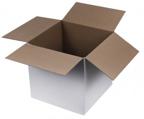 Faltkarton mdf, einwellig, weiß - 300 x 300 x 300 mm