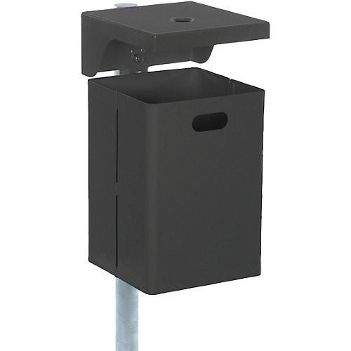 Abfallbehälter Renner, 40 l - mit Ascher