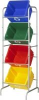 Gestell + Recycle Boxen Nesta Sunware, 4 Stück