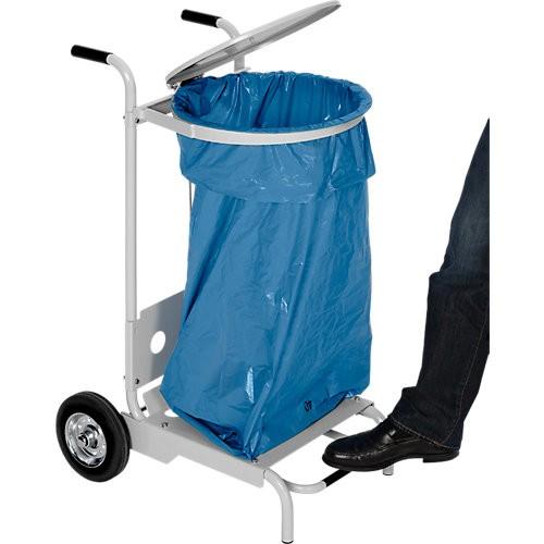 Müllsackhalterung VAR, 120 l - mit Fußpedal