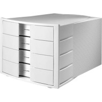Schubladenbox HAN IMPULS 2.0, 4 Schubladen, lichtgrau